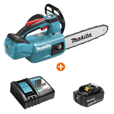 Промо к-т Акумулаторен верижен трион MAKITA - DUC254Z + Акумулаторна Батерия BL1850B + Зарядно устройство DC18RC
