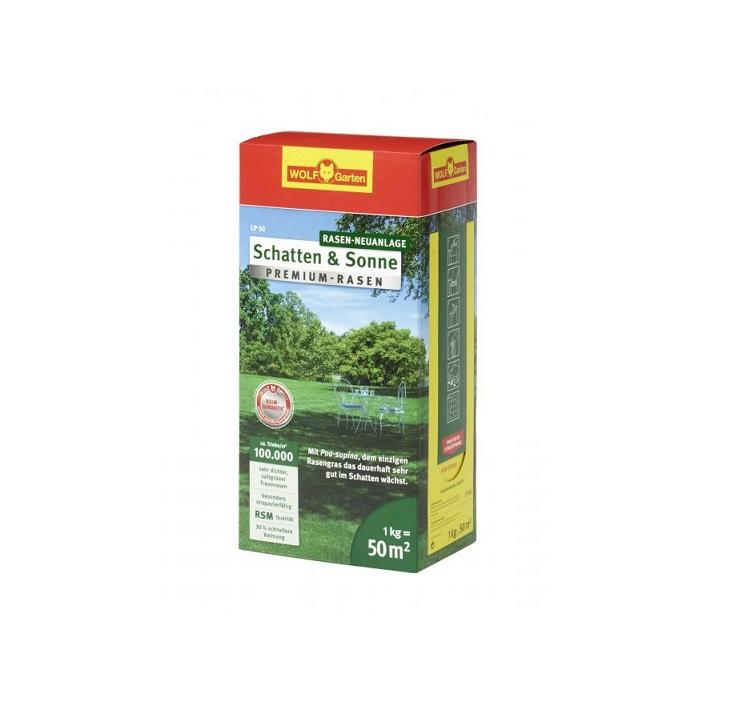 """Тревна смеска универсална - слънце / сянка Wolf Garten LР-50 """"Premium"""" - 1кг"""