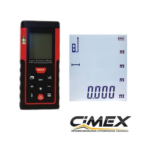 Лазерна ролетка CIMEX LM40