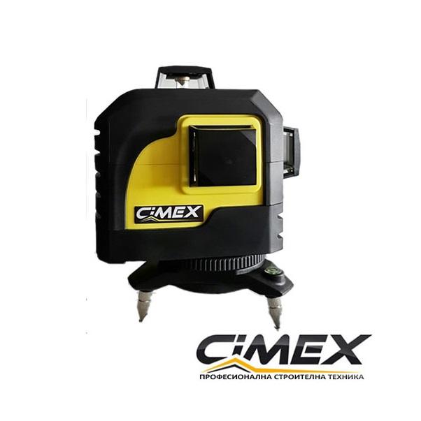 Линеен лазерен нивелир CIMEX 3D - самонивелиращ
