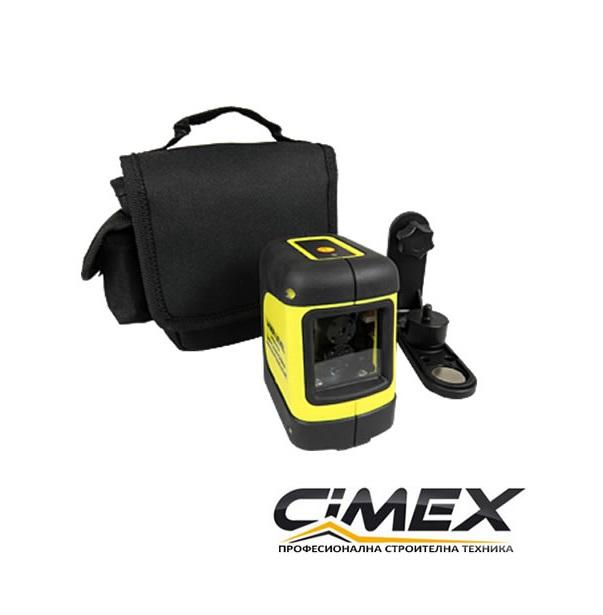 Самонивелиращ лазерен нивелир с кръстосани линии CIMEX SL10