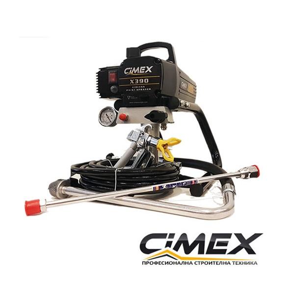 Машина безвъздушно боядисване CIMEX AIRLESS X390
