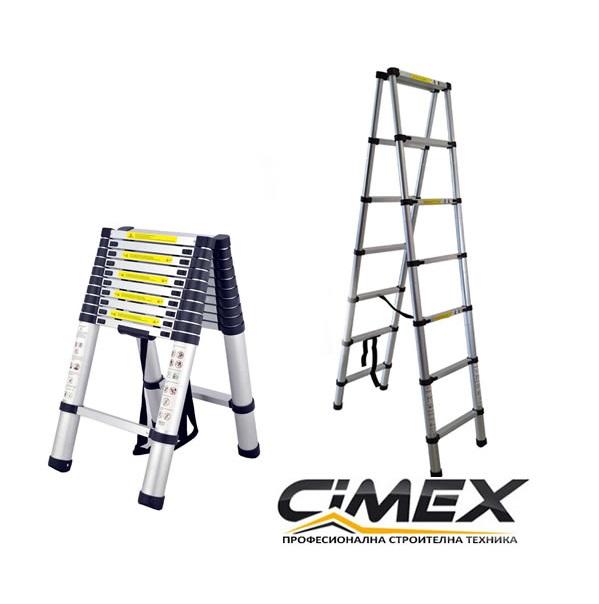 Телескопична А-образна стълба 2.0 м