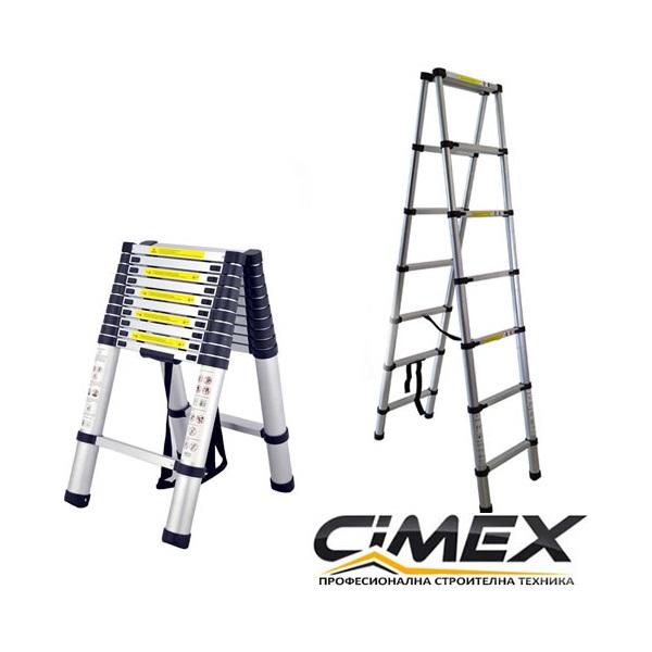 Телескопична А-образна стълба 3.2 м