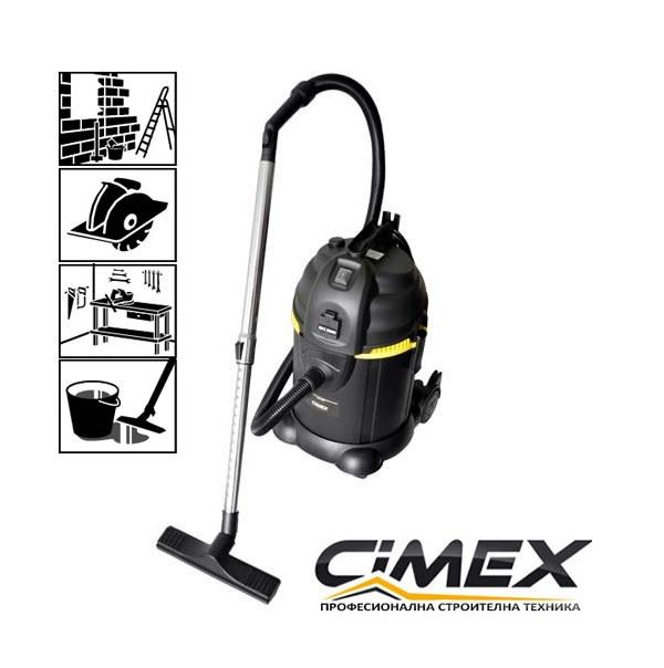 Прахосмукачка за сухо и мокро CIMEX VAC30L и изтупване на филтъра