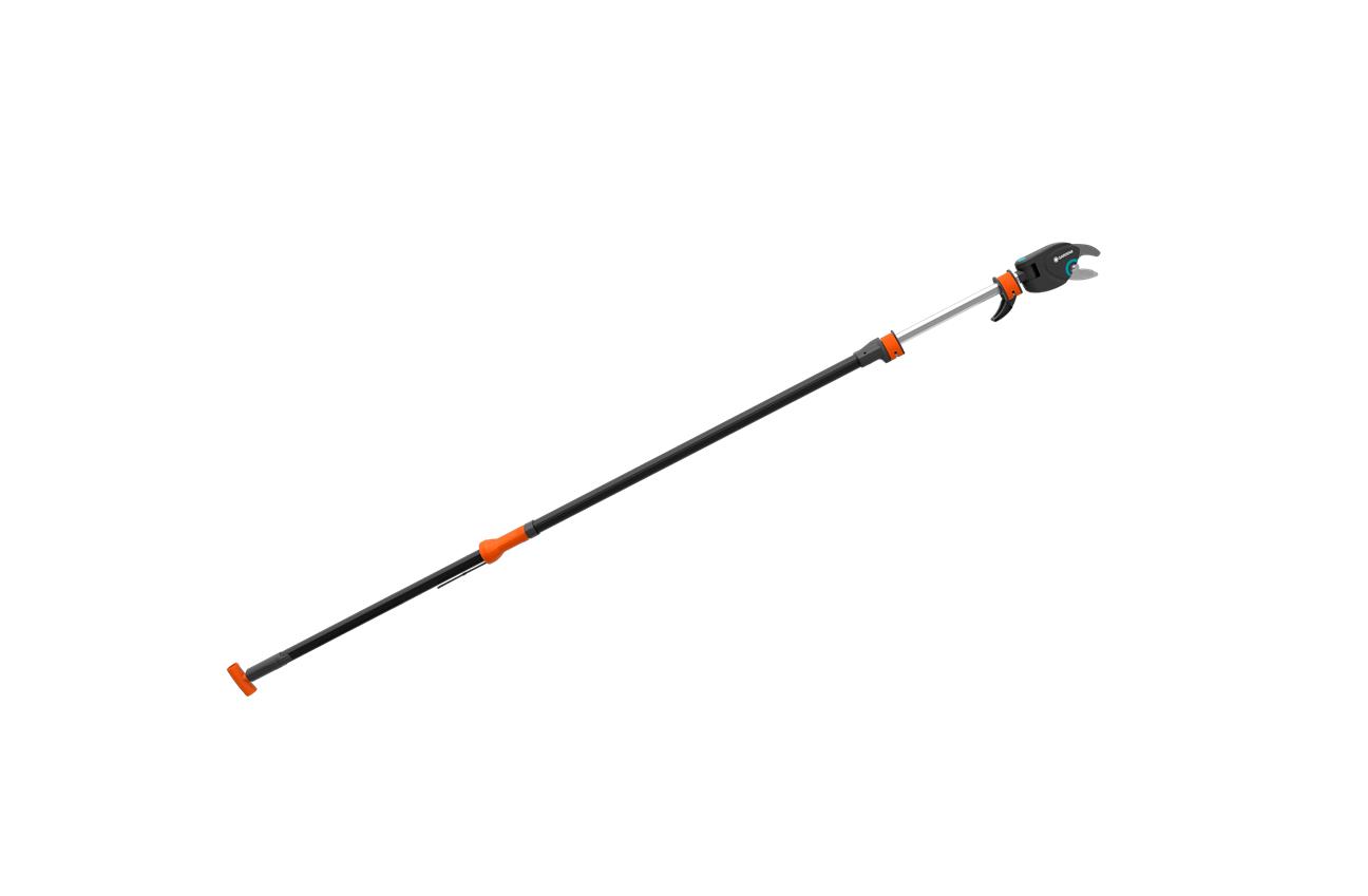 Телескопична прътова ножица Gardena за кастрене на клони до 32 мм - 2.30м - 4.10м Starcut 410 Plus (12001)