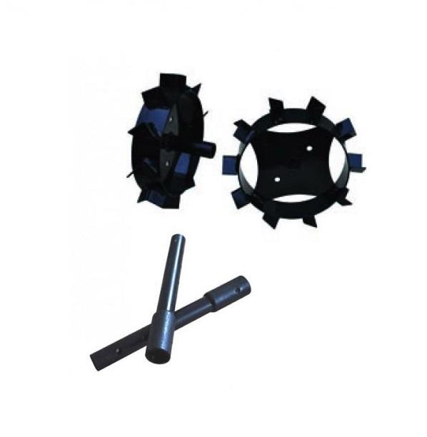 Prisma Комплект метални колела за мотофреза FORTECO - 320 mm + уширители