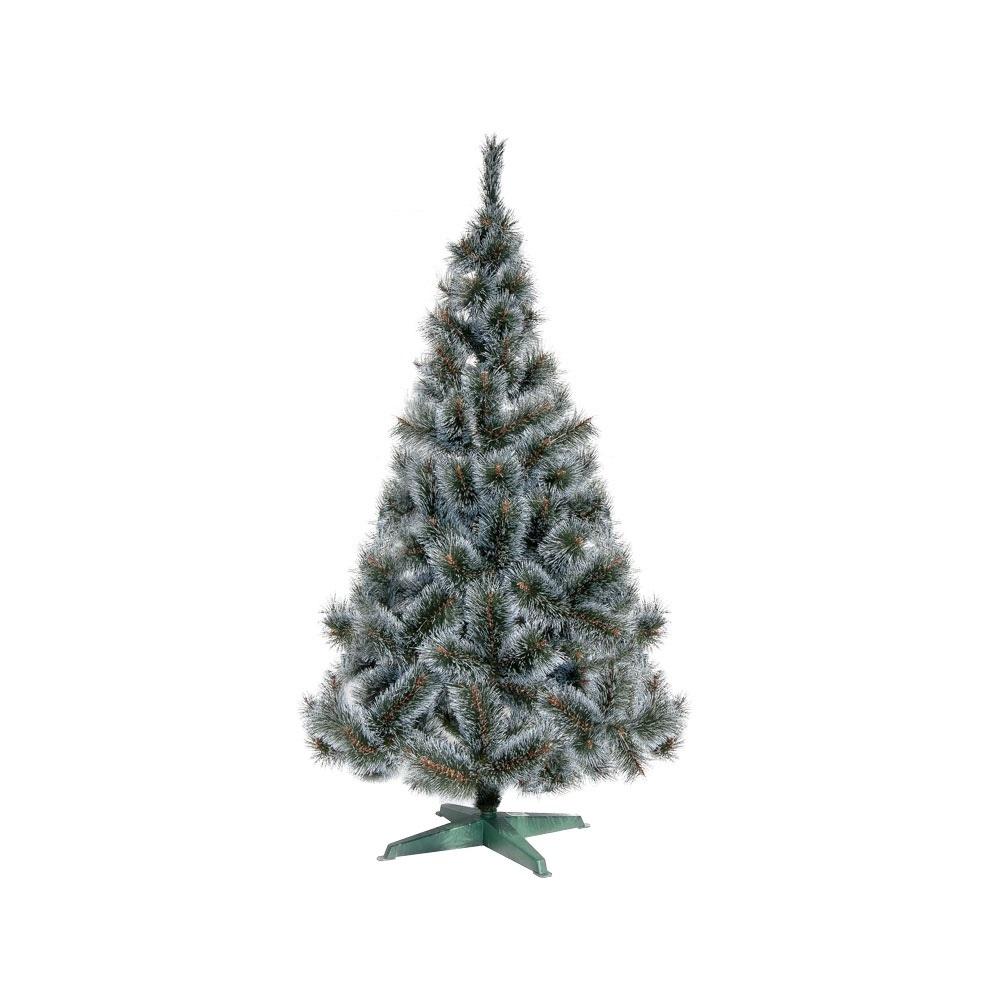 Коледна елха GTrees Жилкова с бели връхчета 120см