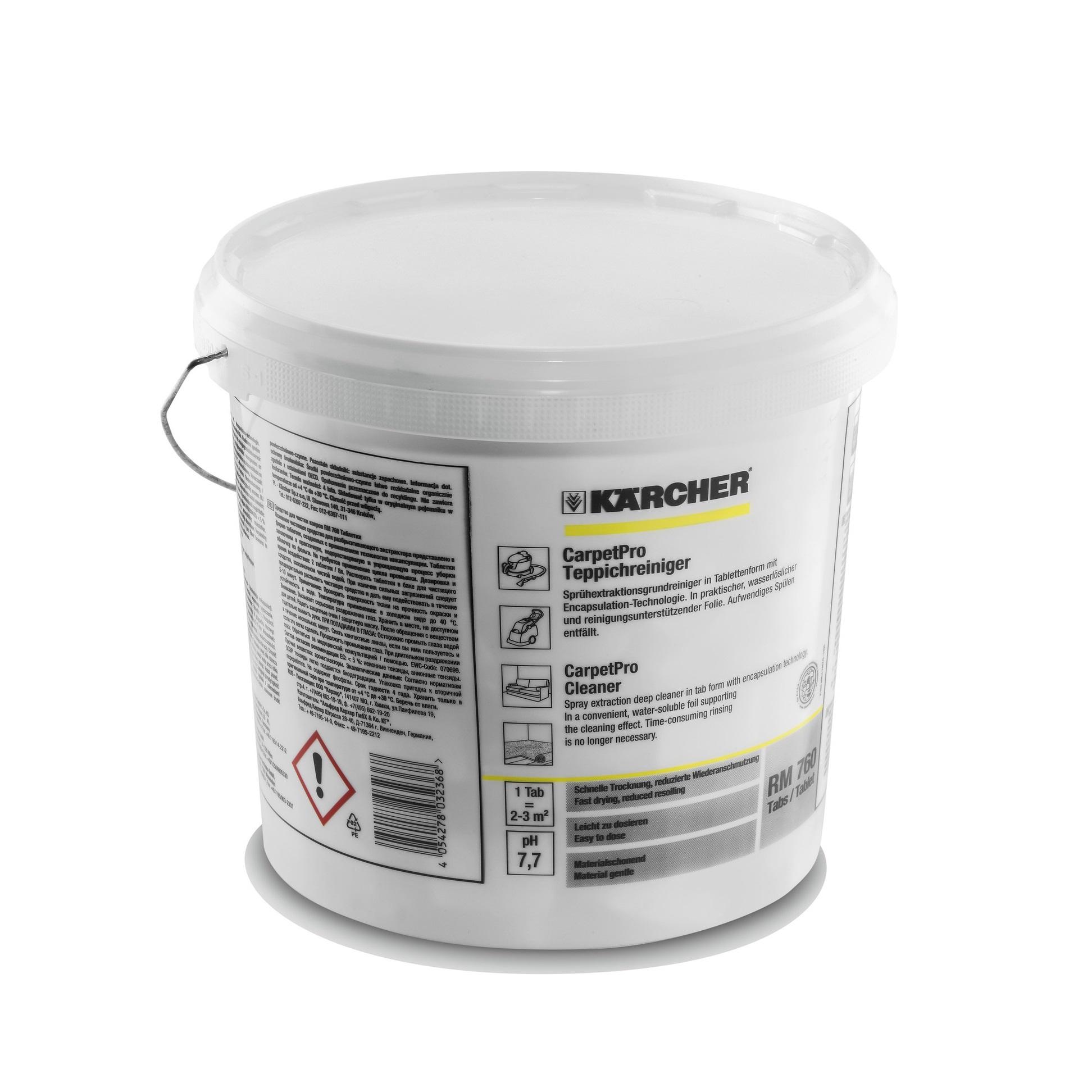 CarpetPro Средство за чистене на килими RM 760, tabletice, 200бр.