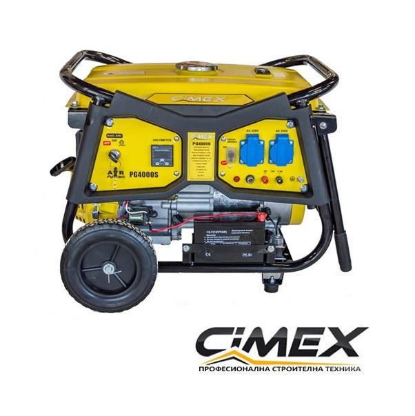 Генератор за ток 3.0 kW с електрически старт, АВР, колела CIMEX PG4000S