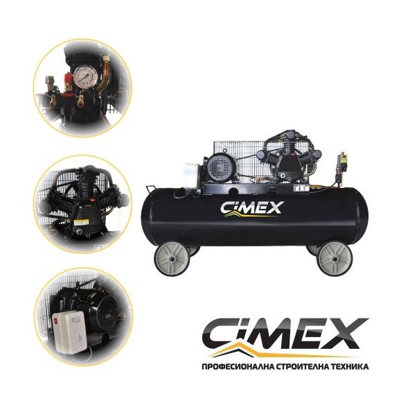 Компресор за въздух - 200л. CIMEX OMP200, ТРИФАЗЕН