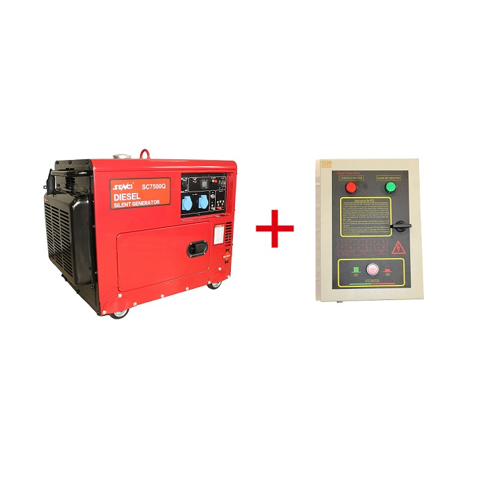 Шумоизолиран дизелов генератор SENCI SC-7500Q