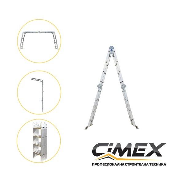 Мултифункционална алуминиева стълба CIMEX 4,80 м