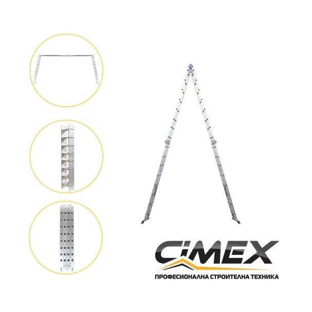 Мултифункционална алуминиева стълба CIMEX 9,30м