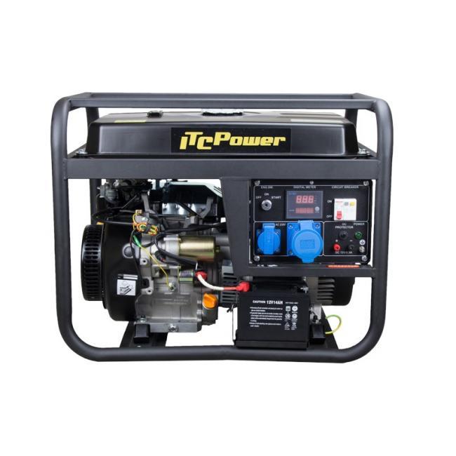 Бензинов генератор, монофазен, ел. стартер GG 9000 LE - 6,6 kW, Hyundai ITC Power