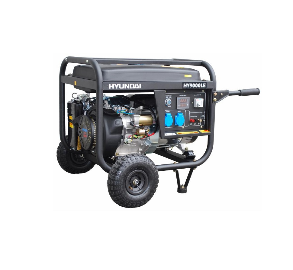Бензинов генератор HYUNDAI HY9000 LEK - 6,0 kW, ел. стартер