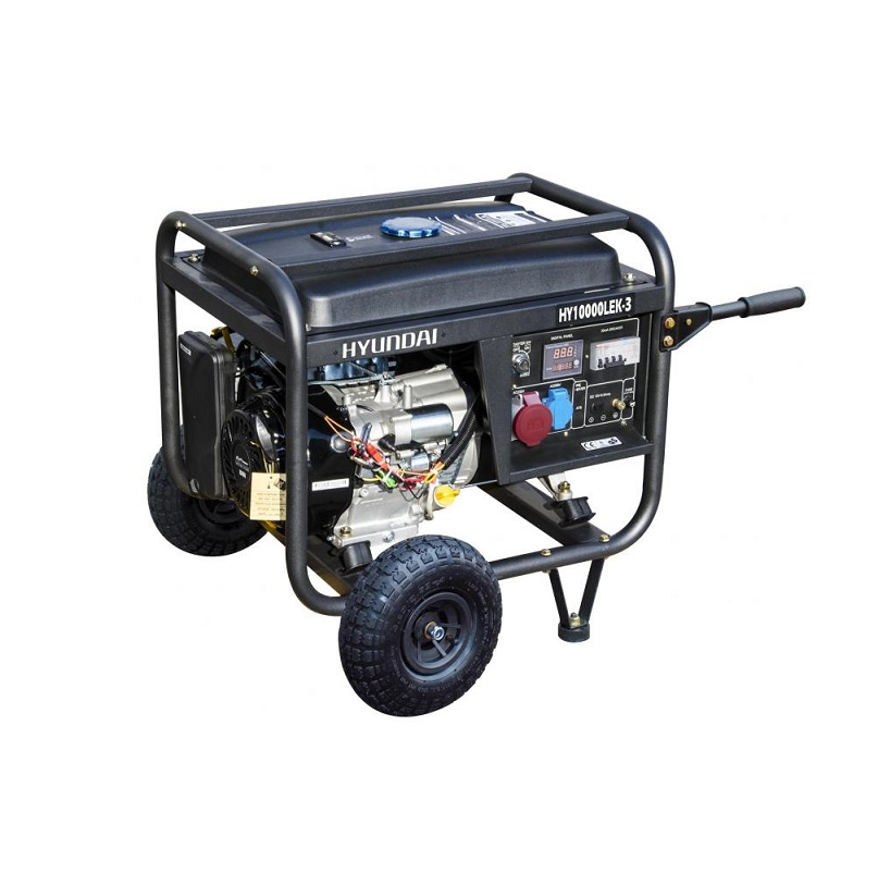 Бензинов генератор трифазен HYUNDAI HY10000LEK-Т - 9,4 kVA, ел. стартер