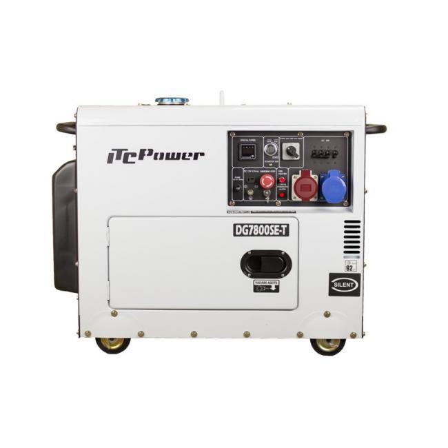 Дизелов генератор трифазен/монофазен обезшумен DG 7800SE-Т- 7,9 kVА, ел. стартер Hyundai ITC Power
