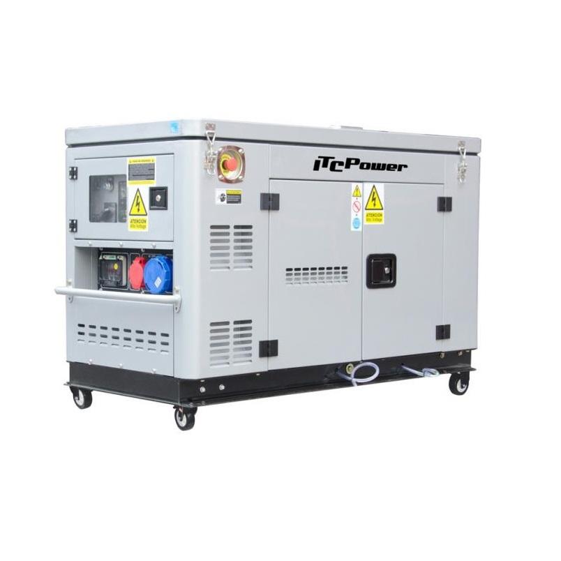 Дизелов генератор, трифазен/монофазен, обезшумен DG 12000ХSE-Т- 12,5 kVА, ел. стартер Hyundai ITC Power