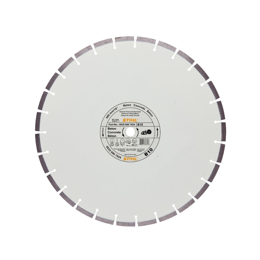 Диамантен диск за бетон STIHL B10 - 400мм