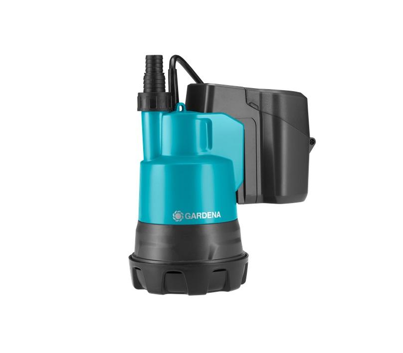 Комплект акумулаторна потопяема помпа за чиста вода Gardena 2000/2 Li-18