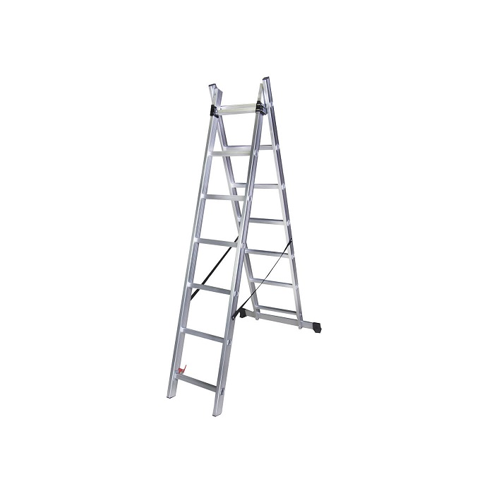 Двураменна алуминиева стълба Bisonte STR207 - 3.15м