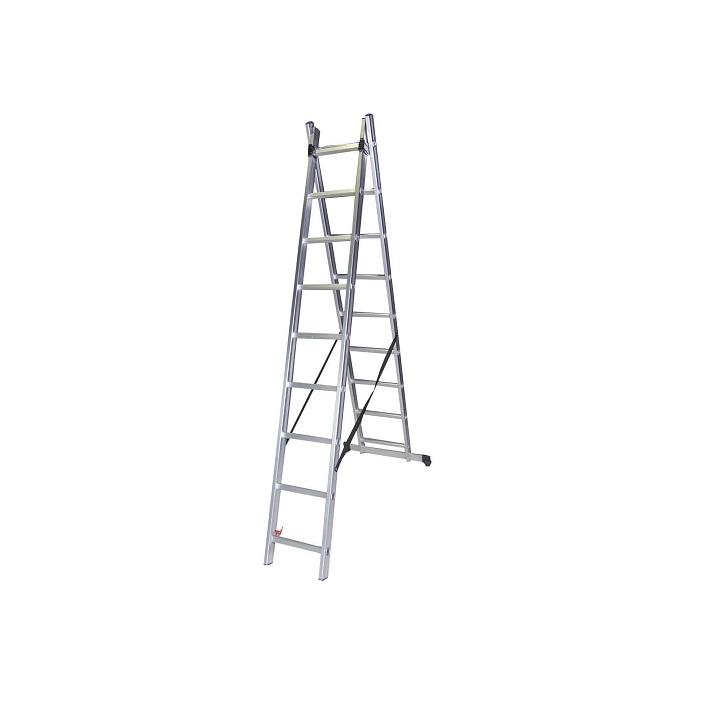 Двураменна алуминиева стълба Bisonte STR209 - 4.25м