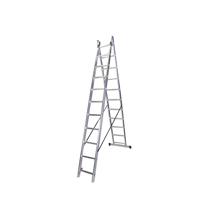 Двураменна алуминиева стълба Bisonte STR211 - 5.30м