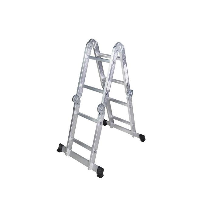 Мултифункционална алуминиева стълба Bisonte STR402 - 2.50м