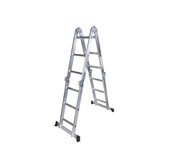 Мултифункционална алуминиева стълба Bisonte STR403 - 3.60м