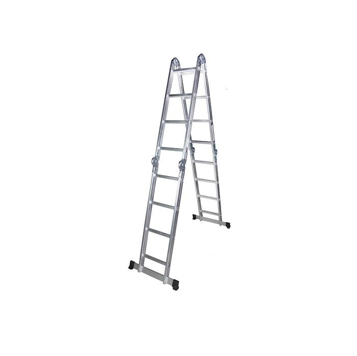 Мултифункционална алуминиева стълба Bisonte STR404 - 4.60м