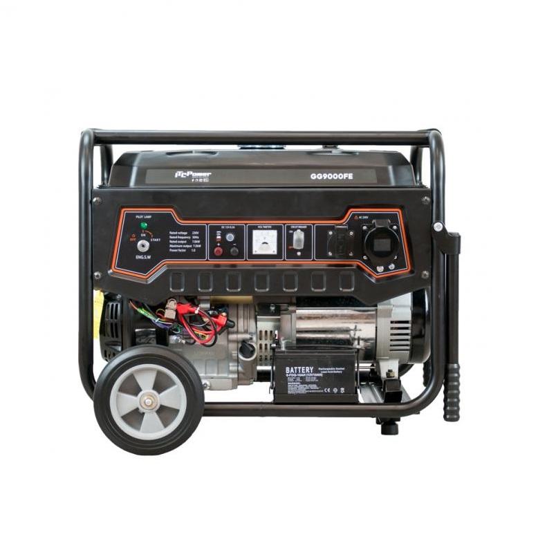 Бензинов монофазен генератор Hyundai GG 9000 FE - 7,5 kW, ел. стартер ITC Power