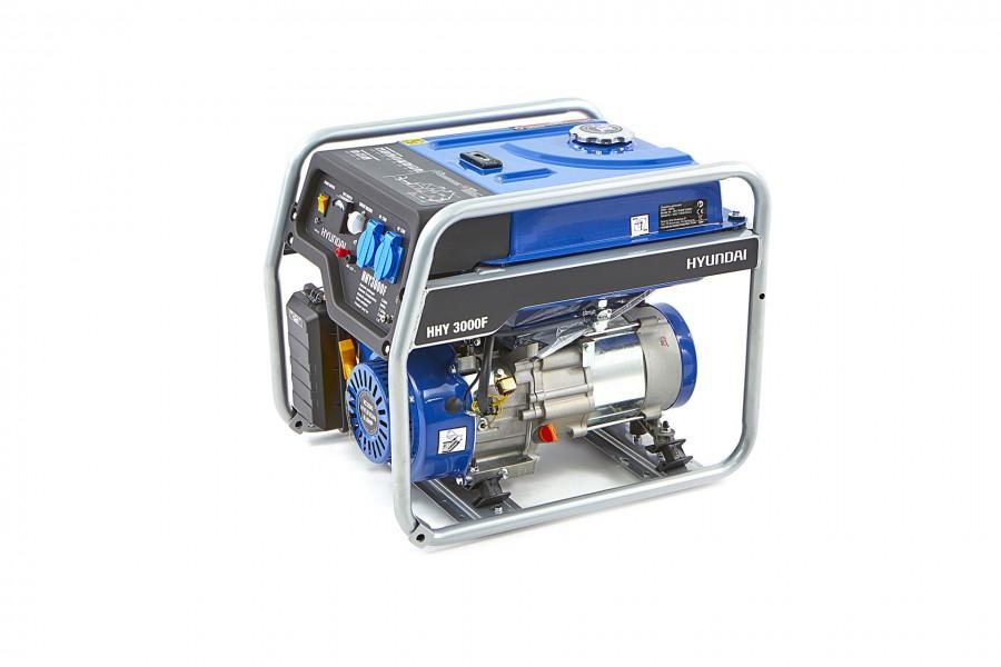Бензинов монофазен генератор Hyundai HHY 3000 FK - 3,0 kW