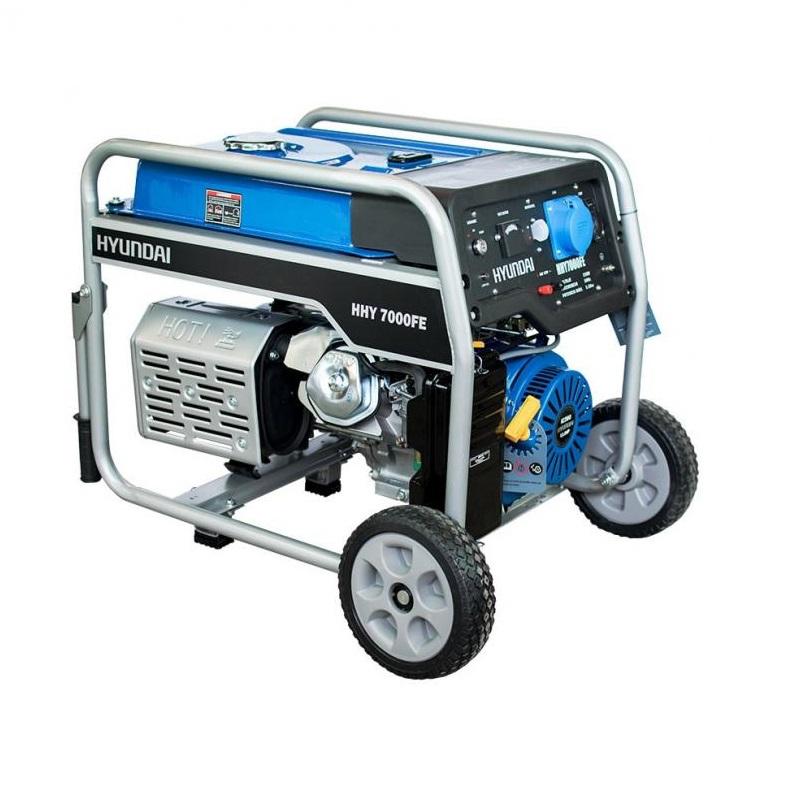 Бензинов генератор Hyundai HHY 7000 FEK - 5,5 kW с ел. стартер