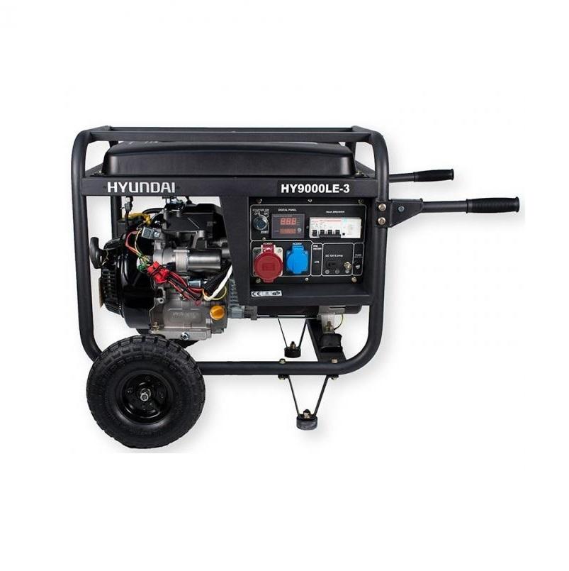Бензинов генератор трифазен / монофазен Hyundai HY9000LEK-3 - 8,2 kVA, ел. стартер